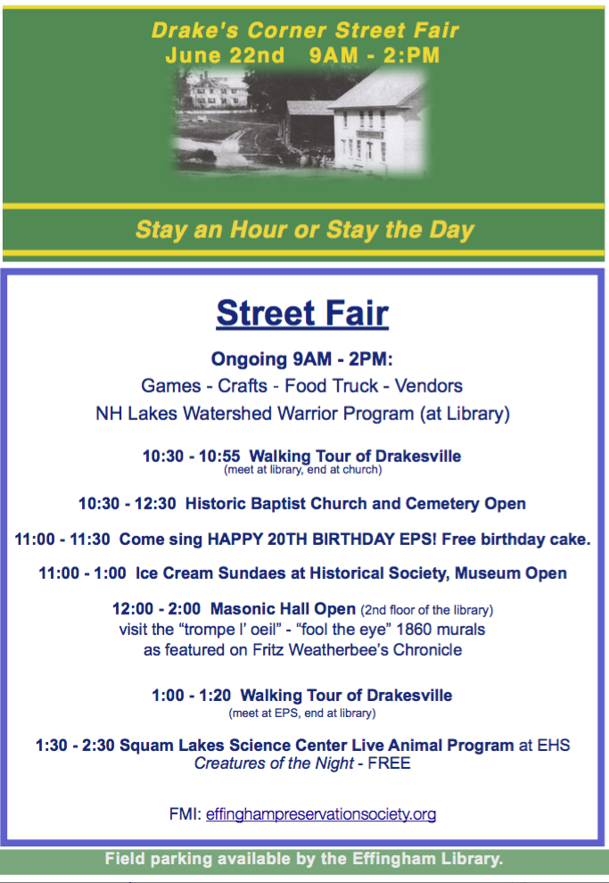 Fair Schedule 2020 Near Me.Events Street Fair Schedule Effingham Preservation Society